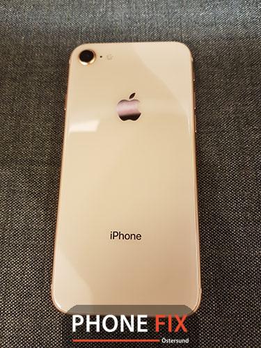 byt glas - Baksida byte iphone 8
