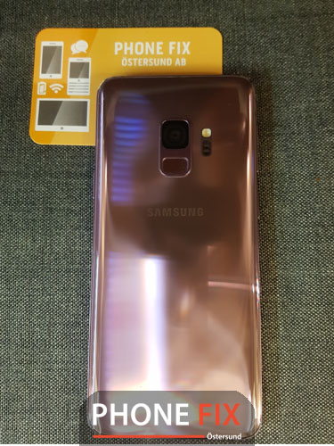 byt glas Samsung S9 baksida byte